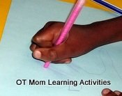 Holding the pencil too tightly could be a sign of poor sensory feedback from the hands.