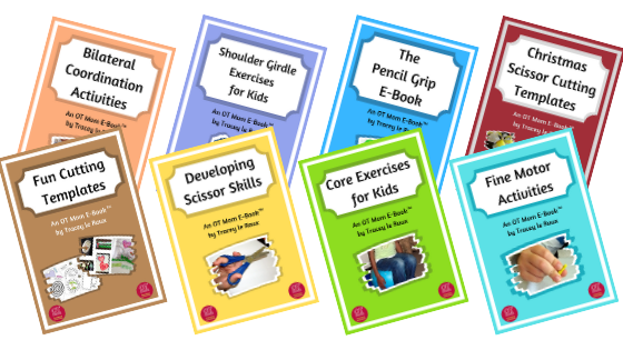 OT Mom's e-books are printable resources that are full of photographed activities and exercises for kids.
