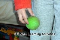 using the fingers to walk a ball