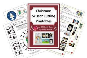 cutting skills printable templates for Christmas