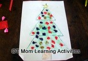 christmas tree cutting and fine motor activity