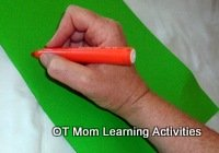 good wrist position for handwriting