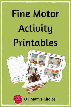 printable fine motor skills worksheets