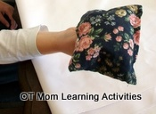 fine motor exercise with a bean bag