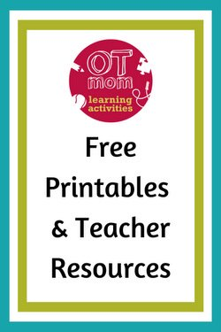 free teacher resources and free printables from OT Mom