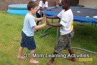 shoulder strengthening game for kids