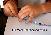 fine motor Christmas activities for kids