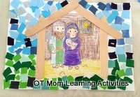 nativity scene collage paper craft