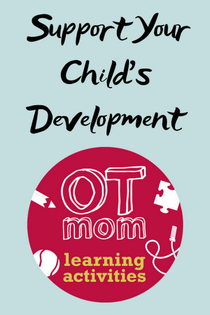fun and easy learning activities to help build kids fine motor, gross motor, visual perception and coordination skills
