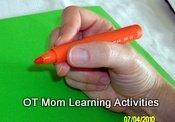 Correct pencil grasp