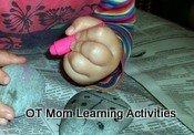 5 finger pencil grasp - toddler