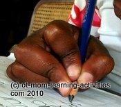 pencil grasp not ideal