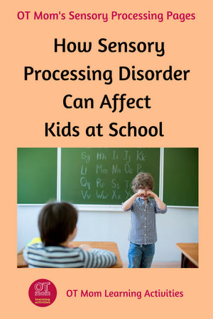 how sensory processing disorder can affect school skills