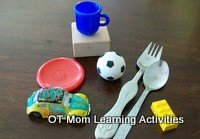 tactile perception game with household objects