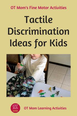 tactile discrimination activity ideas for kids