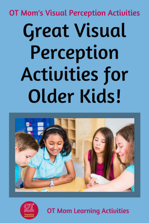 visual perception games, activities and tips for older kids and teens