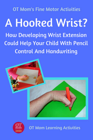 hooked wrist for handwriting